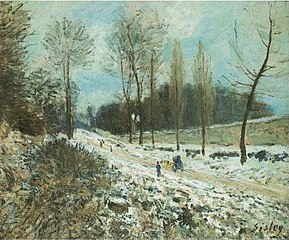 The Cote du Coeur-Volant at Marly-le-Roi, under Snow