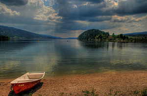Lac de Joux - View from the eastern shore