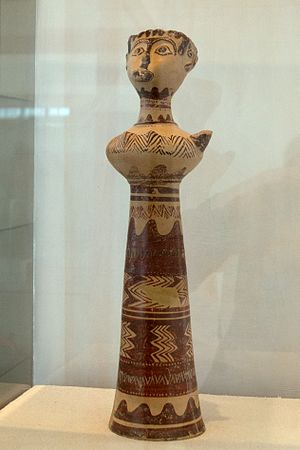 Milos - The Lady of Phylakopi (14th-century BC) in the Archaeological Museum of Milos