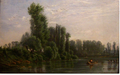 Lafage-Laujol Idyllic landscape with fishermen on the river.png