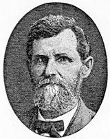 kuprogravuron de Dr Lafayette Bunnell, montrante lin kiel pli maljunan viron kun fendetoplena vizaĝo, mallonga hirta hararo kaj altranĉita grizbarbulo.
