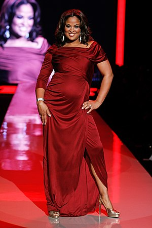 Laila Ali - Ali modeling at the 2011 Heart Truth fashion show