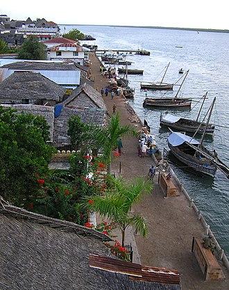 Lamu - View of the seaside, Lamu Town