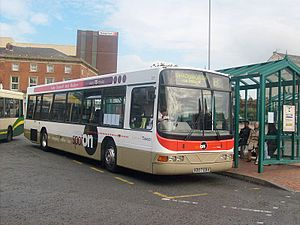 Transdev Blazefield - Transdev Lancashire United Wright bodied Volvo B10BLE in Blackburn in March 2008