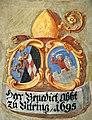Landhaus Klagenfurt Kleiner Wappensaal Abt Benedikt zu Viktring 1695 25052011 888.jpg