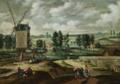 Landschaft mit Windmühle flämisch 17Jh.png