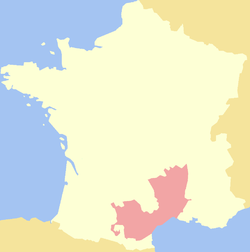 Location of Languedoc