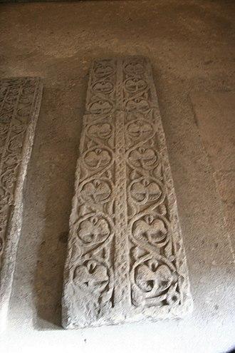 Leocadia - Image: Lauda sepulcral central cripta santa leocadia
