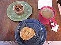 Laurel Bakery NOLA Aug 2011 Muffin Brioche Coffee.JPG