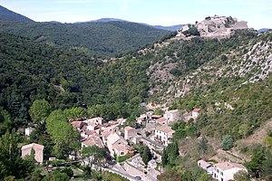 Burg Termes oberhalb des Ortes