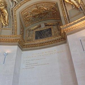 Henri Loyrette - Image: Le nom d'Ahae gravé au Louvre