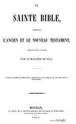 Louis-Isaac Lemaistre de Sacy: La sainte Bible
