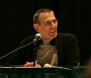 Leonard Nimoy speaking at his panel at Emerald...