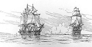 "English: The incident between the HMS ""Le..."