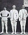 Les Français (G. à D. Lippmann, Buchard et Massard) médaillés de bronze olympique à l'épée en 1920.jpg