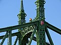 Liberty Bridge detail, 2013 Budapest (517) (12823956775).jpg