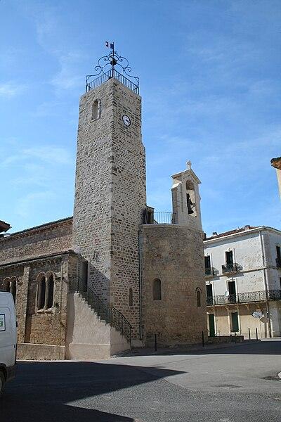 Lieuran-lès-Béziers (Hérault) - église Saint-Martin.