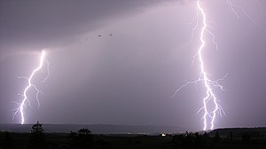 Thunder - Thunder is the sound produced by lightning.