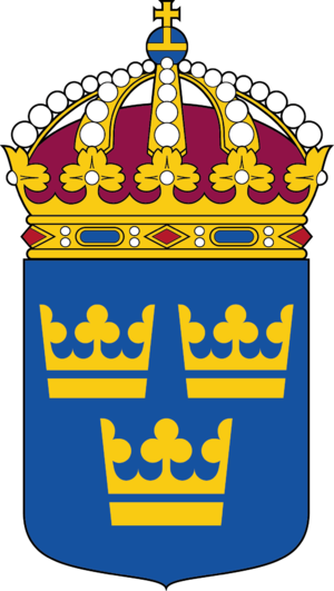 Swedish Act of Succession - Image: Lilla riksvapnet Riksarkivet Sverige