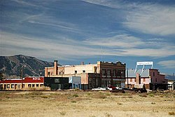 The historic business district of Lima, Montana, Summer 2010.