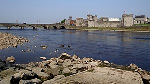 County Limerick - The River Shannon runs through Limerick City, with King John's Castle.