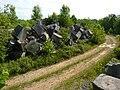 Limestone blocks by a Tapp Road quarry, Bloomington, Indiana - 20100619-05.jpg