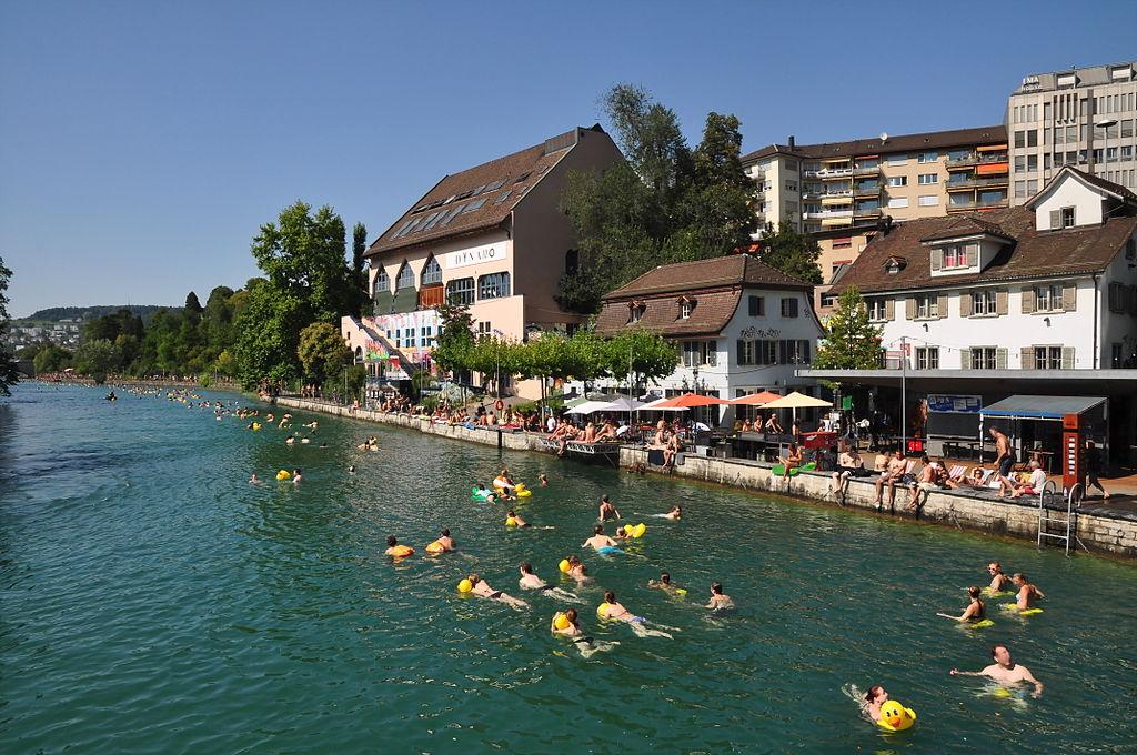 Limmat - Limmatschwimmen - Unterstrass - Jugendkulturhaus Dynamo - Platzspitzpark 2011-08-20 15-42-36