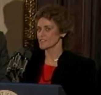 Linda Sharp - Sharp at the White House in 1984 following USC's national championship.