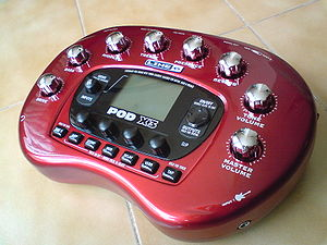 Line 6 POD X3 guitar effects processor.