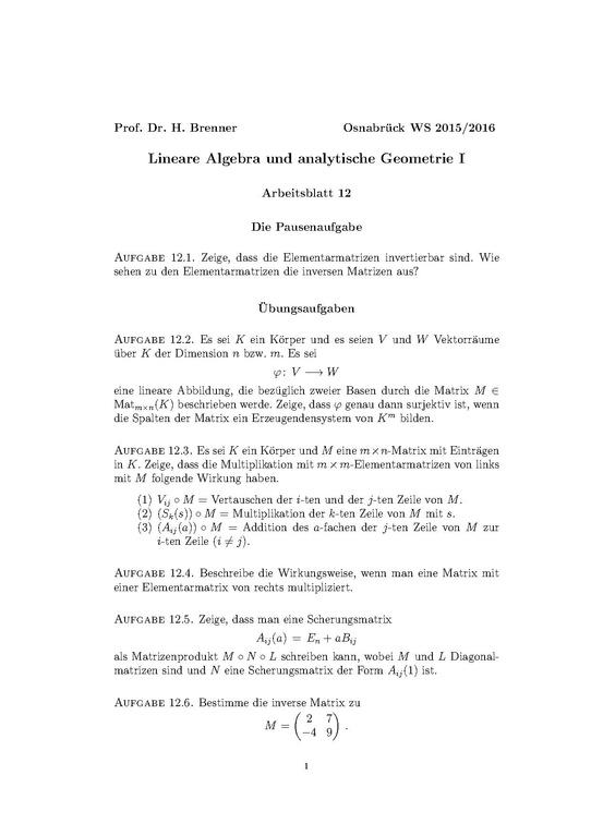 Charmant Matrix Operationen Arbeitsblatt Ideen - Mathe Arbeitsblatt ...