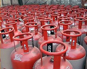 Liquefied petroleum gas -  Cylinders with LP gas in India