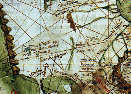 Lithuania in the Mappa mundi of Pietro Vesconte, 1321. The inscription reads: Letvini pagani - pagan Lithuanians. Lithuania in the map of Pietro Vesconte, 1321.png