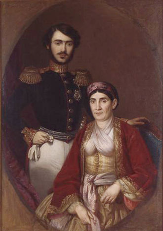 Ljubica Vukomanović - Image: Ljubica Obrenovic sa sinom Milanom