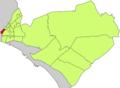 Localització de Marquès de Fontsanta respecte del Districte de Llevant.png