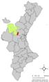 Localització de Pedralba respecte del País Valencià.png