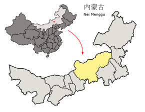 Location of Xilin Gol League within Inner Mongolia (China).png