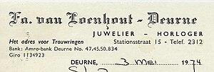Loenhout, fa v - juwelier, horloger 1974.jpg