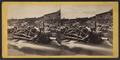 Logs washed over the dam west of the bridge, from Robert N. Dennis collection of stereoscopic views.png