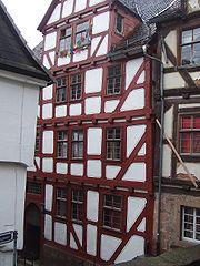 Η κατοικια του Λομονόσοφ στο Μάρμπουργκ. Εδώ παντρεύτηκε την κόρη της σπιτονοικοκυράς του.