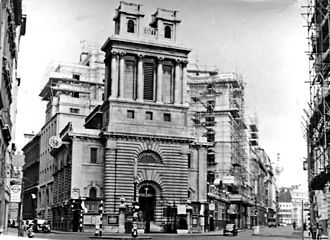 St Mary Woolnoth - St. Mary Woolnoth pictured in 1959.