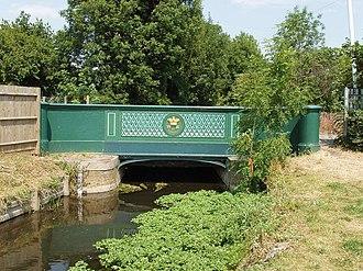 Longford, London - Image: Longford River bridge with William IV 1834 sign geograph.org.uk 196512