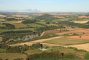Newstead, Scottish Borders - Image: Looking northeast from Eildon Hill North