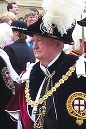 Edwin Bramall - Lord Bramall in the robes of a Knight Companion of the Order of the Garter, June 2006