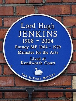 Lord hugh jenkins 1908 2004 (the putney society)