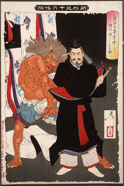 402px-Lord_Sadanobu_Threatens_a_Demon_in_the_Palace_at_Night_LACMA_M.84.31.458.jpg