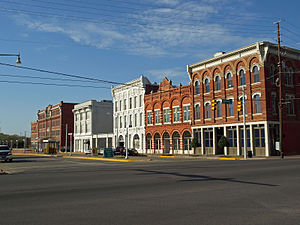 Lower Commerce Street Historic District - 200 block of North Commerce Street in 2009