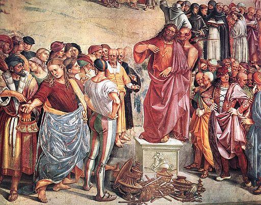 Luca signorelli, cappella di san brizio, predica e punizione dell'anticristo 04
