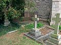 Lucy Townsend and Rev Charles Ts grave behind bars in Thorpe Notts August 2015.jpg