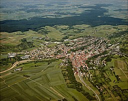 Luftbild von Weissach - Staatsarchiv Sigmaringen - Archivalieneinheit N 1/96 T 1 Nr. 510