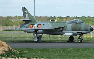 Royal Air Force Germany - Hawker Hunter F.6 in No. 4 Squadron RAF colours at Luftwaffe Museum, Gatow-Berlin